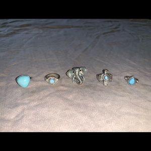 Jewelry - Ring Set, Silver and Turquoise